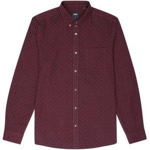 Burton Mens Berry Long Sleeve Oxford Dot Shirt, Burgundy Br22p02pbur Xsm, BURGUNDY