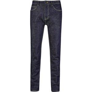 Burton Mens Big & Tall Rinse Denim Indigo Wash Carter Tapered Leg Jeans, Blue Br12a51lblu 46r, Blue
