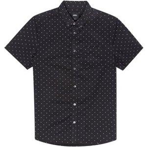 Burton Mens Black Mini Dot Short Sleeve Oxford Printed Shirt, Black Br22p20pgry Xxxl, Black