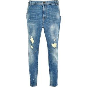 Burton Mens Blue Carrot Fit Splatter Jeans, Blue Br12c03qblu 44r, Blue