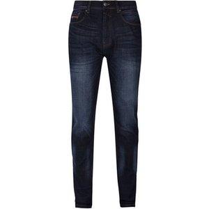Burton Mens Blue Raw Denim Carter Tapered Fit Jeans, Blue Br12a02mblu 46l, Blue