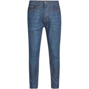 Burton Mens Coated Raw Denim Carrot Fit Jeans, Blue Br12c02pblu 32r, BLUE