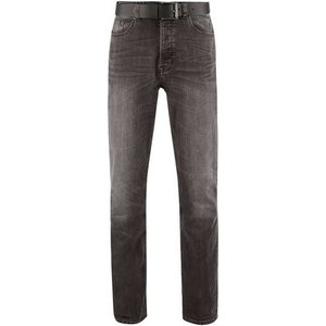 Burton Mens Grey Jude Bootcut Fit Belted Washed Jeans, Grey Br12b01ngry 32l, Grey