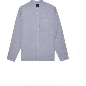Burton Mens Grey Long Sleeve Oxford Granded Shirt, Grey Br22o01pgry Xsm, Grey