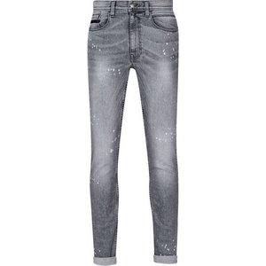Burton Mens Grey Splatter Wash Tyler Skinny Fit Jeans, Grey Br12k02pgry 28s, Grey