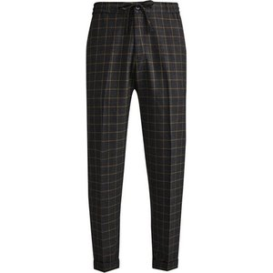 Burton Mens Grey Tapered Fit Check Comfort Trousers, Grey Br23s09pgry 40r, Grey