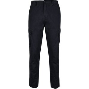 Burton Mens Navy Tapered Fit Stretch Cargo Trousers, Blue Br23s04mnvy 46r, Blue