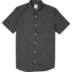 Burton Mens Olive Short Sleeve Skinny Fit Oxford Shirt, Mid Green Br22o14mgrn Xsm, MID GREEN