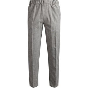 Burton Mens Tapered Stretch Side Stripe Trousers, Grey Br23s06pgry 34l, Grey