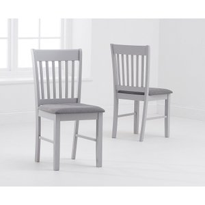 Great Furniture Trading Company Amalfi Grey Dining Chairs With Fabric Seats (pairs)