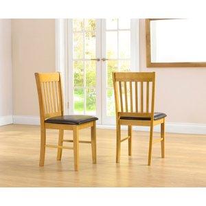 Great Furniture Trading Company Amalfi Oak Dining Chairs (pairs)