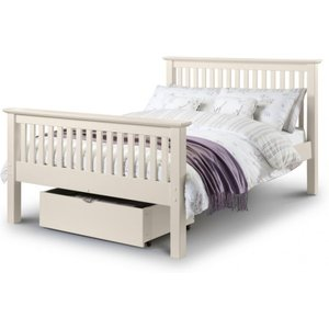 Great Furniture Trading Company Basel Stone White High Foot End Solid Pine King Size Bed