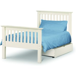 Great Furniture Trading Company Basel Stone White High Foot End Solid Pine Single Bed