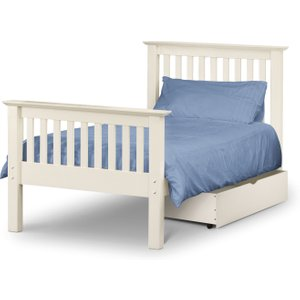 Great Furniture Trading Company Basel Stone White Low Foot End Solid Pine Single Bed