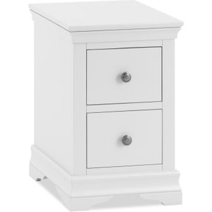 Great Furniture Trading Company Budapest White Bedside Table