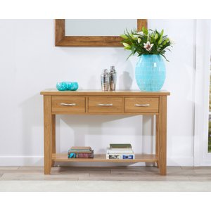 Great Furniture Trading Company Cheadle 120cm Oak Console Table