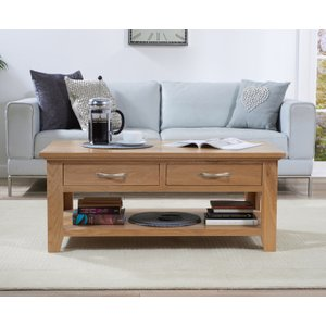 Great Furniture Trading Company Cheadle Oak Four Drawer Coffee Table