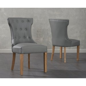 Great Furniture Trading Company Cora Grey Faux Leather Dining Chairs (pairs)