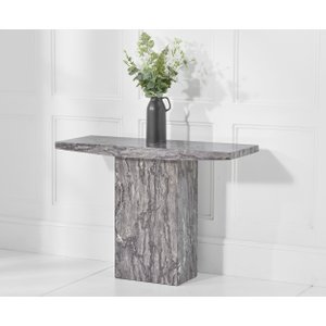 Great Furniture Trading Company Crema Grey Marble Console Table