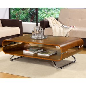 Great Furniture Trading Company Curve Walnut Coffee Table