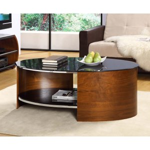 Great Furniture Trading Company Curve Walnut Oval Coffee Table