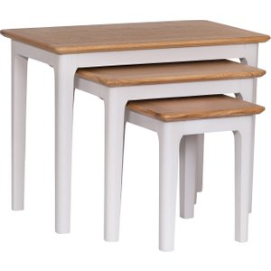 Great Furniture Trading Company Diego Oak And Grey Nest Of 3 Tables