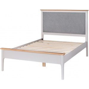 Great Furniture Trading Company Diego Oak And Grey Single Bed Frame With Fabric Headboard