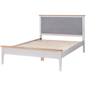 Great Furniture Trading Company Diego Oak And Grey Super King Bed Frame With Fabric Headboard