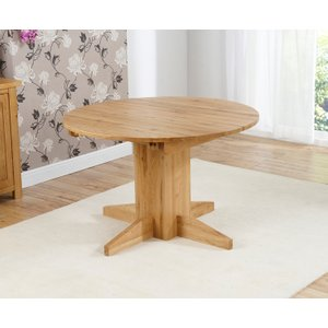 Great Furniture Trading Company Dorchester 120cm Oak Round Extending Dining Table