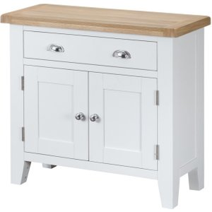 Great Furniture Trading Company Ellen 2 Door 1 Drawer Oak And White Sideboard