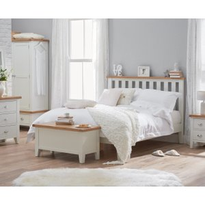 Great Furniture Trading Company Ellen Oak And White Super King Size Bed