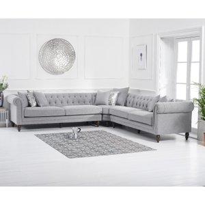 Great Furniture Trading Company Livi Grey Linen Corner Sofa