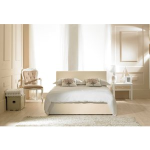 Great Furniture Trading Company Madrid Ivory Faux Leather Ottoman Small Double Bed