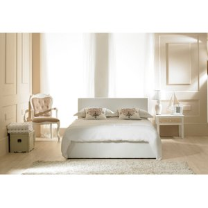 Great Furniture Trading Company Madrid White Faux Leather Ottoman Small Double Bed