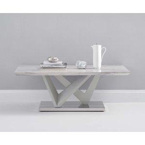 Great Furniture Trading Company Rami Light Grey Marble Effect Carrera Coffee Table