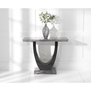 Great Furniture Trading Company Raphael Dark Grey Marble Console Table