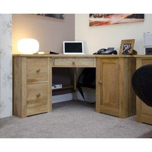 Great Furniture Trading Company Reno Oak Corner Computer Desk