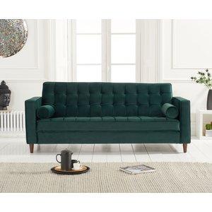 Great Furniture Trading Company Ria Green Velvet 3 Seater Sofa