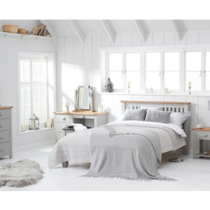 Great Furniture Trading Company Somerset Oak And Grey Double Bed