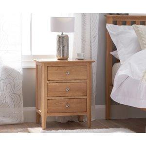 Great Furniture Trading Company Suri Oak Large Bedside Table