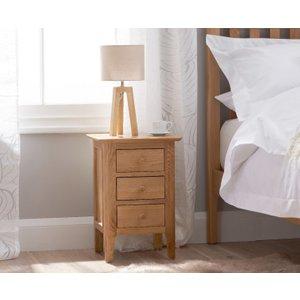 Great Furniture Trading Company Suri Oak Small Bedside Table