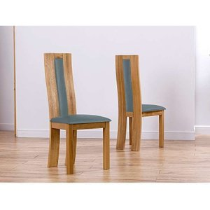 Great Furniture Trading Company Toronto Solid Oak Grey Dining Chairs (pairs)