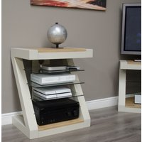 Great Furniture Trading Company Z Painted Hifi Cabinet With Natural Oak Top