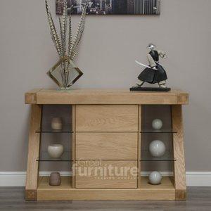 Great Furniture Trading Company Z Solid Oak Designer Narrow Sideboard