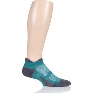1 Pair Rio Elite Max Cushion Trainer Socks Unisex 11.5-14.5 Unisex - Feetures Blue Ec501554, Blue