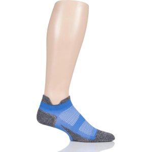 Feetures 1 Pair True Blue Elite Ultra Light Cushion Trainer Socks Unisex 11.5-14.5 Unisex - Feeture E551544, Blue