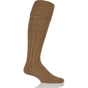 Mens 1 Pair Scott Nichol Wool Turn Over Top Wellington Boot Socks Yellow Ys1000 L Mus, Yellow
