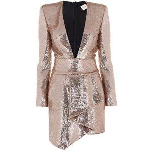 Alexandre Vauthier Belt Wrap Dress Size: 10 (38), Pink