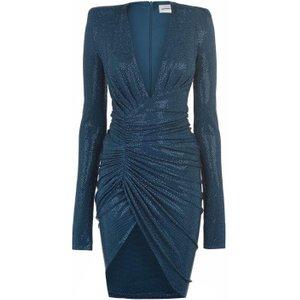 Alexandre Vauthier Wrap Dress Size: 6 (34), Cobalt