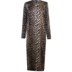 Ganni Silk Leopard Print Dress Size: 10 (38), Leopard